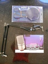MXL 990 Condenser Microphone, Neewer boom, and Nady pop filter Combo Package!