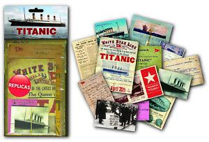 Titanic nostalgic memorabilia pack with replica ephemera items   (mp)