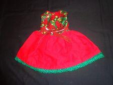 doll dress for 18 inch american girl handmade red cardinal christmas green 26