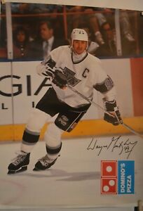 RARE Vintage Wayne Gretzky Los Angeles Kings Dominos Pizza Advertisement Poster