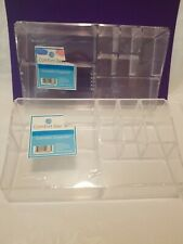 (2) Cosmetic Organizers Clear Acrylic By Comfort Bay 9 X 5in - 8 Compartments