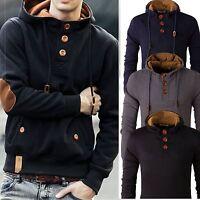 NEW Men Hoodies Slim Warm Hooded Sweatshirt Coat Jacket Outwear Knit Sweater BJ