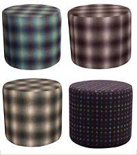 RRP £186 Pouffe Seat Fabric Footstool Chair Luxury Vanity Bedroom 100% Wool