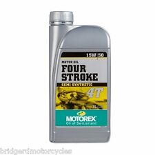 MOTOREX 15W50 1L QUALITY SEMI SYNTHETIC MOTORCYCLE OIL 15W50