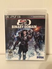 Binary Domain PS3 (Sony PlayStation 3) MINT Complete FAST Shipping!!