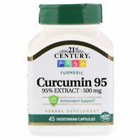 21st Century Turmeric Curcumin 95 500 mg Vegetarian Capsules 45 Count, 1 Pack