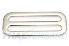 10 Stück Schieber ( Stopper ) 50mm Hoch Stahl vernickelt Regulator für Gurtband