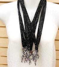 12 Pieces Lot  Black Rhinestone Bling Custom Ribbon Lanyard ID Badge &Key Chain