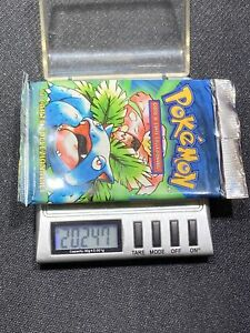 2000 Pokemon Base Set Italian 1st Edition Booster Pack Venasaur FACTORY SEALED