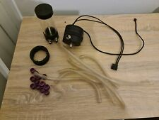 More details for used ekwb pump reservoir and spare parts (tubes and purple fittings)
