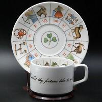 Vintage Jon Anton The Taltos Fortune Telling Ironstone Teacup & Saucer England