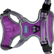 SPORTS DOG HARNESS IN NEON PURPLE BY DOG & CO - AJUSTABLE REFLECTIVE / MEDIUM