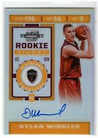 2019 Optic Contenders Dylan Windler SP Silver Rookie RC Ticket Auto #132 Cavs