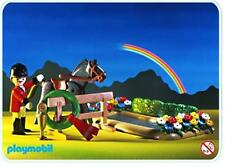 Playmobil Farm, Ranch 3853 CHAMPION HORSE with BLANKET & RIDER by THE WATER POND
