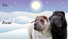 Shar Pei Christmas Labels by Starprint