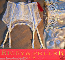 RIGBY & PELLER PORTE JARRETELLES SERRE TAILLE 34/36 IVOIRE NEUF IDEAL MARIAGE  !