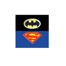 "DC Comics Superman/Batman Emblem Logo Plush Blanket Baby Size 43""x51"""