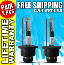 D2R 35W 10000K White HID Xenon Replacement Low Beam Headlight Bulbs Pair x2 NEW