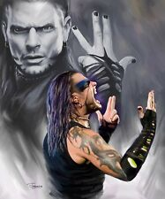 Jeff Hardy :giclee print on canvas poster painting no autograph B-0096