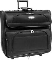 Black Travel Select Rolling Garment Bag Luggage W/ Detachable Shoulder Strap