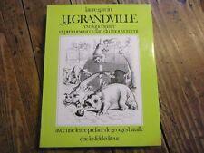 J.J GRANDVILLE REVOLUTIONNAIRE PRECURSEUR ART MOUVEMENT FELURS ANIMEES 1970