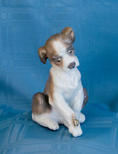 Rare Beautiful Lladro Puppy Dog With Snail Figurine Spain Mint