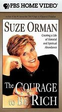 The Courage To Be Rich - Suze Orman (VHS, 1999) *New