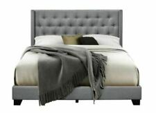 Gray Aadvik Tufted Upholstered Low Profile Standard Bed