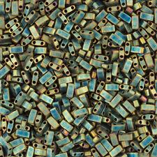 Miyuki Half Tila Beads Matte Metallic Green Iris TLH2008 5mm 7.8g (K89/5)