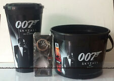 SKYFALL James Bond 007 Movie CUP + Popcorn Bucket + KEYCHAIN COKE Coca Cola