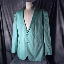 Linea Uomo 52 Long Mint Green Sports Coat 2 Button 2 Back Vent 100% Cotton