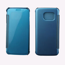 Flip Clear View Leather Case Cover For Samsung Galaxy S6 S7 Edge Iphone 6 6s