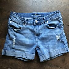 Girls 7 For All Mankind Jeans Distresses Shorts Denim Size 12