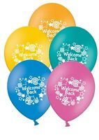 "Welcome Back - 12"" Printed Assorted Latex Balloons pack of 5 by PARTY DECOR"