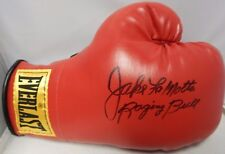 Jake LaMotta Signed Boxing Glove Inscribed Raging Bull  JSA Authenticated