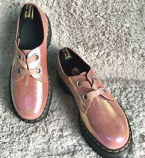 Dr Martens Holly EUR 40 Iridecent Textoure Pink Plateau 3 Ösen