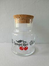 grand bocal en verre, le temps des cerises,  vintage des années 70
