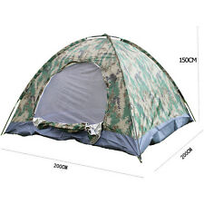 New 4 person Outdoor Camping Waterproof 4 season folding tent Camouflage Hiking