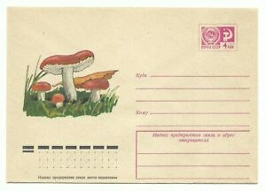 Russia. USSR. Cover with printed stamp Mushrooms 14.01.1975