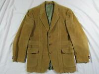 Vtg 1930s Style h.i.s. Corduroy Norfolk Belt Back Jacket Coat 60s Blazer 30s 20s