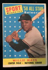 1958 Topps Willie Mays San Francisco Giants #486 Baseball Card