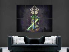 STAR WARS YODA POSTER SMOKE WEED KEEP CALM FUNNY HUMOUR LARGE GIANT WALL