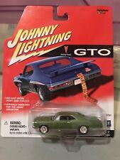 Johnny Lightning Gto 1967 Pontiac Gto Hardtop Green 1:64 Diecast