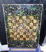 Antique American Folk Art Wooden Painted Game Board !