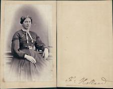 Madame Holland Vintage CDV albumen carte de visite CDV, tirage albuminé, 6 x