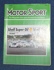 Motor Sport June 1982 Gilles Villeneuve killed at Zolder