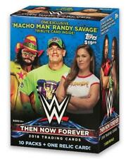 2018 TOPPS WWE THEN NOW FOREVER BLASTER BOX 10 PACKS + 1 RELIC