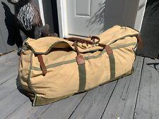 Vintage GOKEYS ORVIS Canvas & Leather Hunting/Travel Duffle Bag Battenkill #9