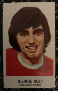 Ex Condition George Best Sun Football Card Manchester United Footballers Series