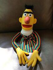 Sesame Street Muppet BERT Vinyl Cloth Hand Puppet Vintage 1970s